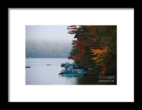 Fall Colors Framed Print featuring the photograph Fall On Little Squam by Michael Mooney