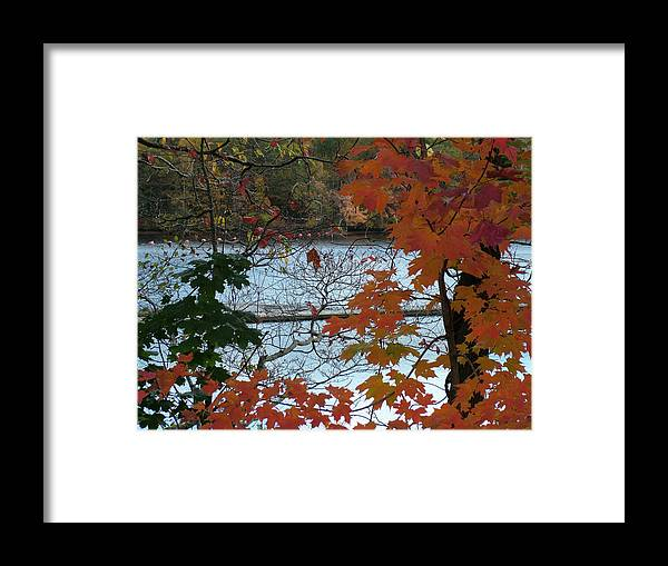 Fall Framed Print featuring the photograph Fall On The Shetucket by Geoffrey McLean