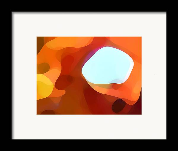 Abstract Framed Print featuring the painting Fall Passage by Amy Vangsgard