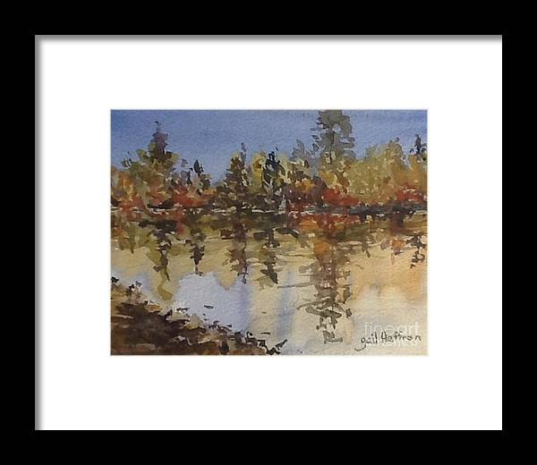 Trees Framed Print featuring the painting Fall Reflected by Gail Heffron