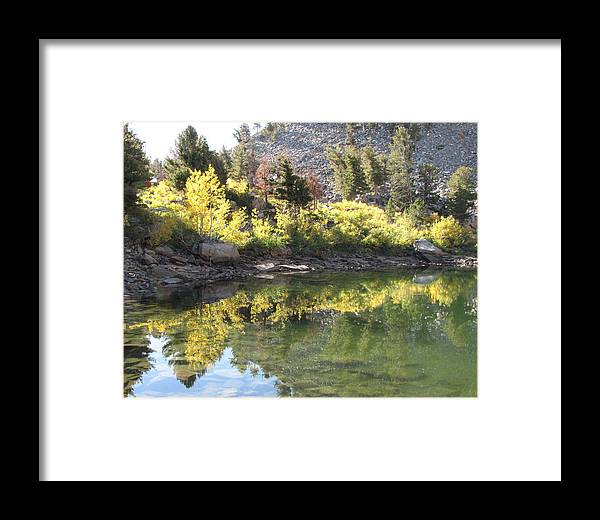 Reflection Framed Print featuring the photograph Fall Reflections by Darcy Tate