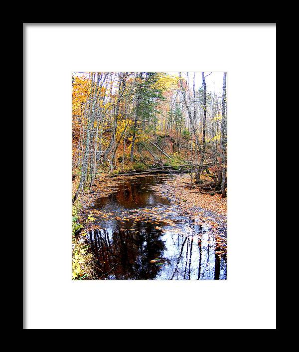 Water Framed Print featuring the photograph Fall River by Mark Hudon