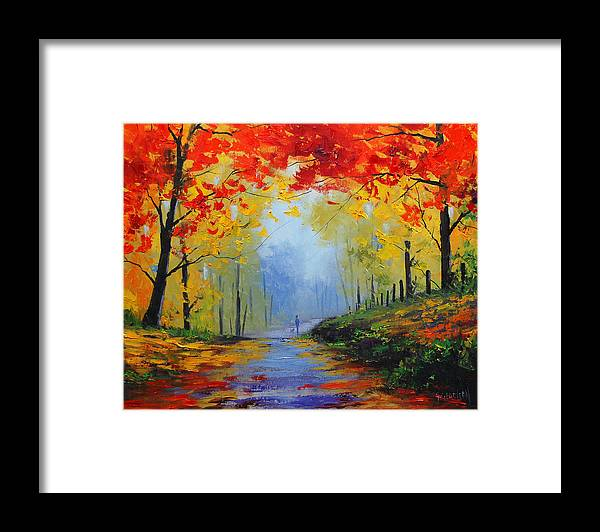 Fall Framed Print featuring the painting Fall Stroll by Graham Gercken