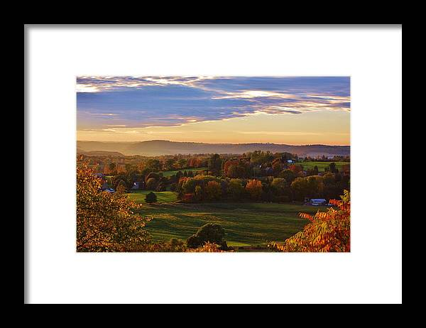 Fall Framed Print featuring the photograph Fall Sunset by Lisa Kane