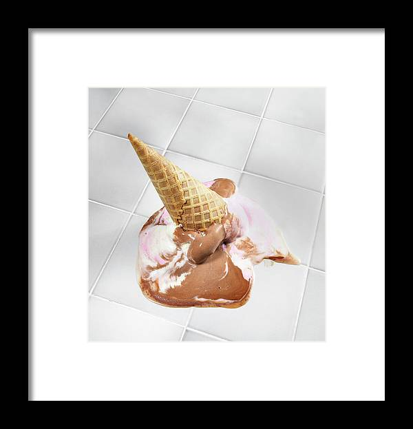 Temptation Framed Print featuring the photograph Fallen Ice Cream by Imstepf Studios Llc