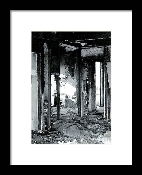Ruin Framed Print featuring the photograph Fallen by Rory Sagner