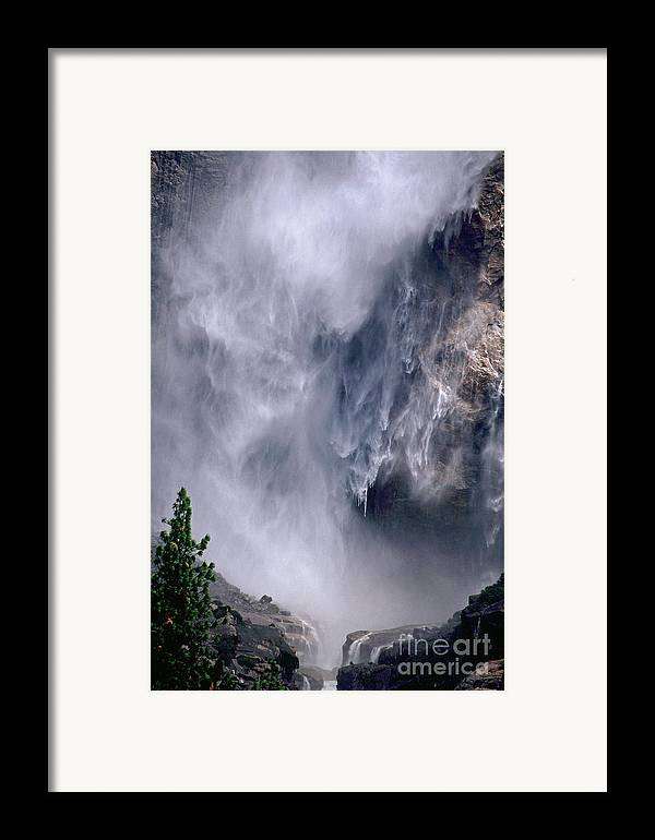 Waterfall Framed Print featuring the photograph Falling Water by Kathy McClure