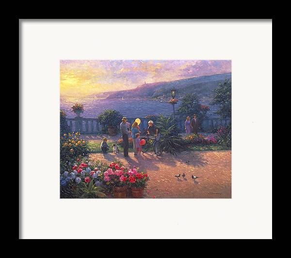 Woman Framed Print featuring the painting Family Friendly by Ghambaro