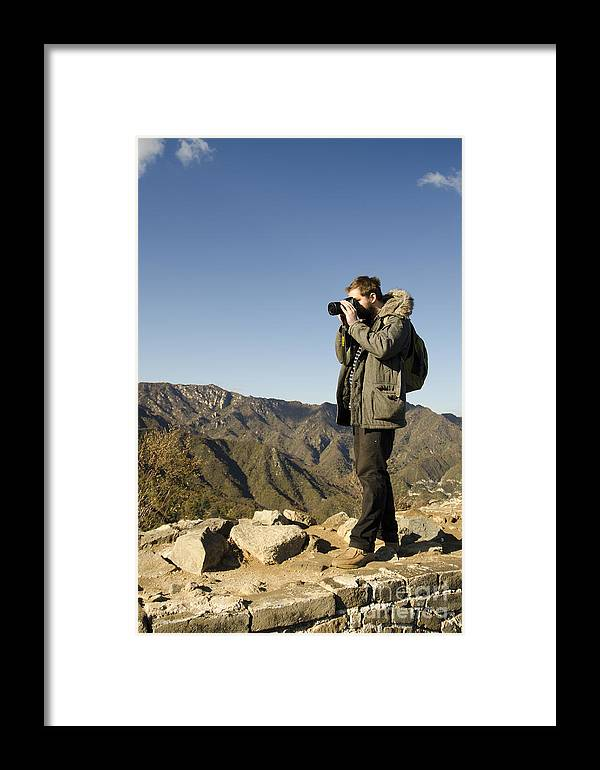 China Landscape Framed Print featuring the photograph Family On The Great Wall by Terri Winkler