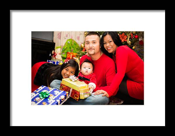 Framed Print featuring the photograph Family Photo 03 by Jerome Obille