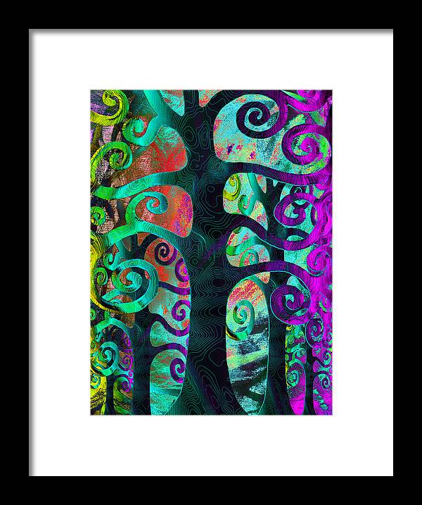 Family Framed Print featuring the digital art Family Struggle 3 by Angelina Vick