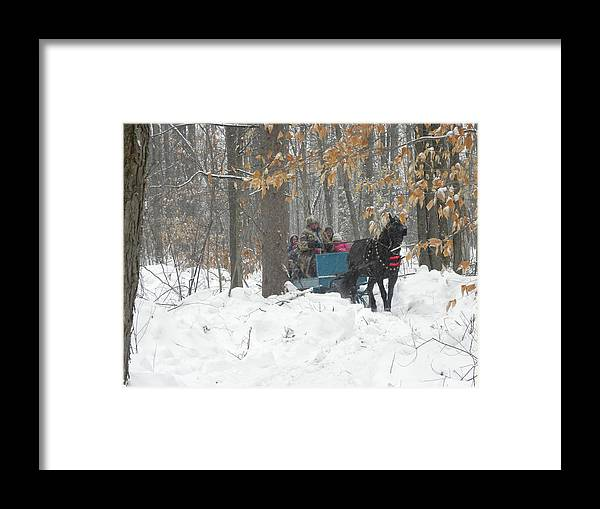 Horse Framed Print featuring the photograph Family Time by Peggy McDonald
