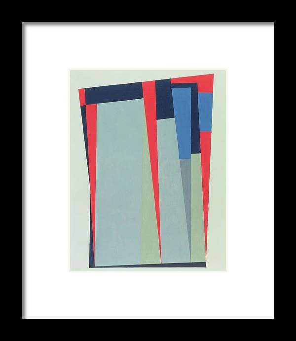 Abstract Framed Print featuring the photograph Fanfare, 1974 Acrylic On Gouache And Pencil by George Dannatt