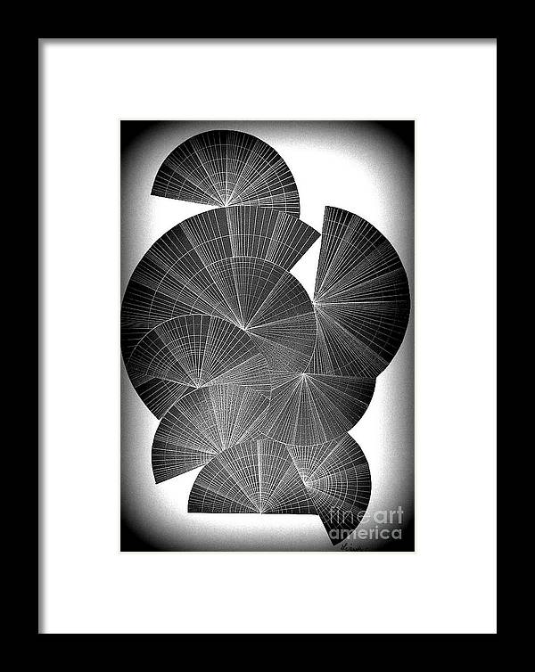 Fans Framed Print featuring the drawing Fans by Sylvie Leandre