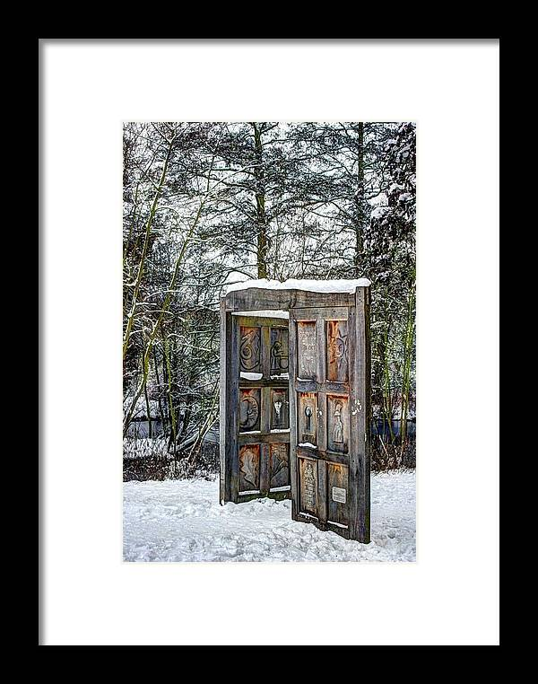 Fantasy Framed Print featuring the photograph Fantasy Door by Jean Innes