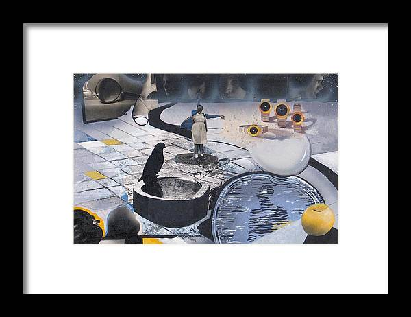 Collage Framed Print featuring the mixed media Fantasy Piece by Rollin Kocsis
