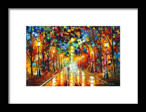 Farewell Framed Print featuring the painting Farewell To Anger by Leonid Afremov
