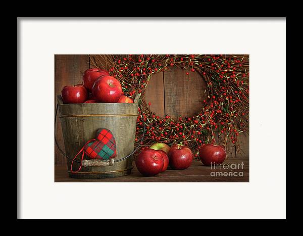 Agriculture Framed Print featuring the photograph Farm Fence In Rural Farm Setting by Sandra Cunningham