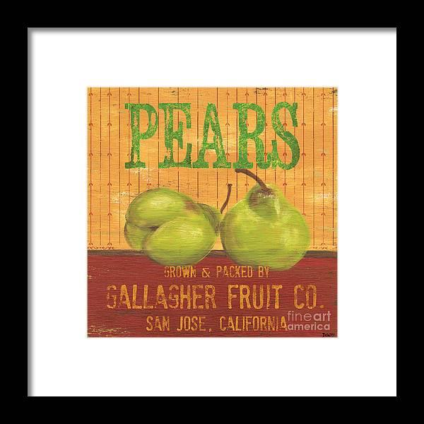 Food Framed Print featuring the painting Farm Fresh Fruit 1 by Debbie DeWitt