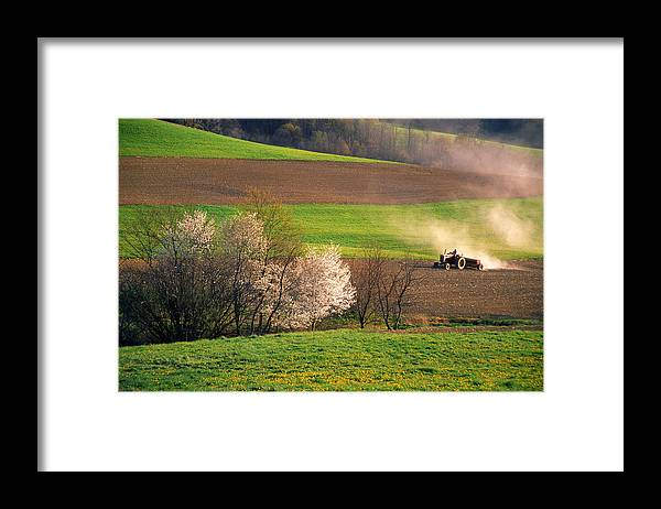 Landscape Photography Framed Print featuring the photograph Farm Landscape Springtime Pennsylvania by Blair Seitz