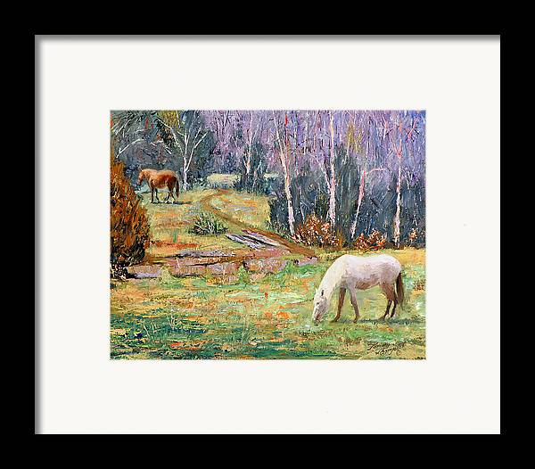 Landscape Framed Print featuring the painting Farm Pleasure by Tommy Thompson