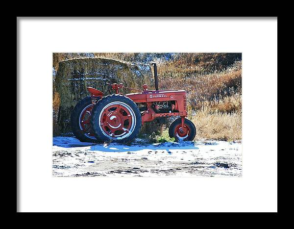 Tractor Framed Print featuring the photograph Farmers Friend 2 by Karen Jones