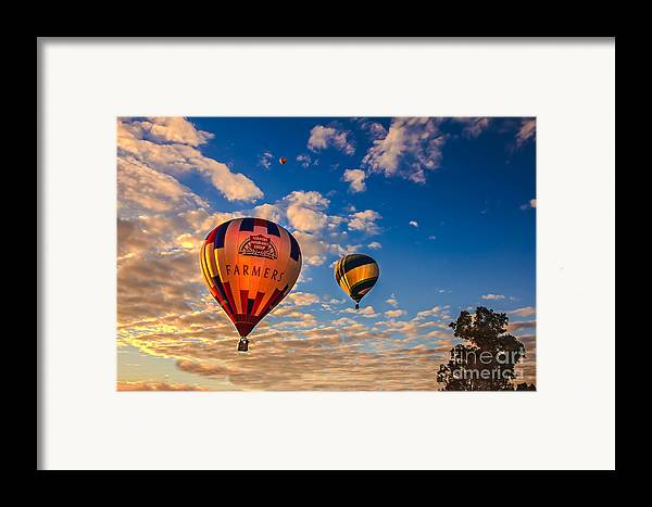 Arizonia Framed Print featuring the photograph Farmer's Insurance Hot Air Ballon by Robert Bales