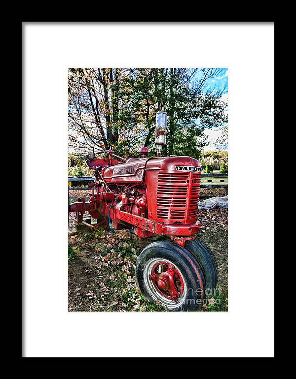 Paul Ward Framed Print featuring the photograph Farmers Tractor by Paul Ward