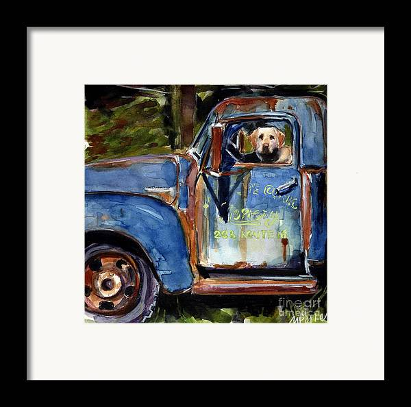 Dog Framed Print featuring the painting Farmhand by Molly Poole