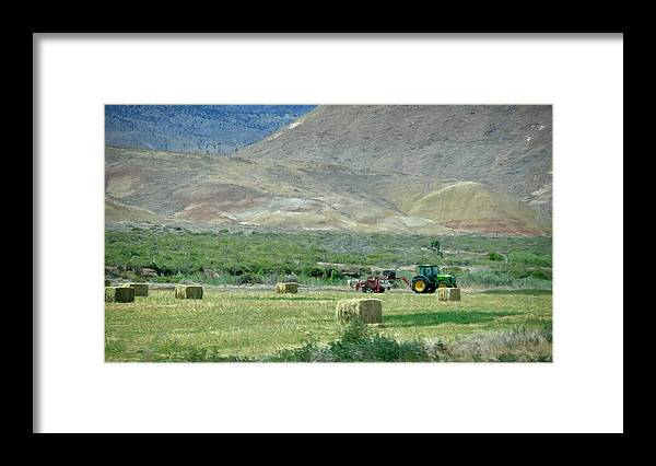 Farming Framed Print featuring the photograph Farming by Irene Thompson
