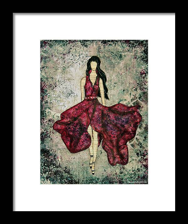 Fashion Art Framed Print featuring the mixed media Fashionista Mixed Media Painting By Janelle Nichol by Janelle Nichol