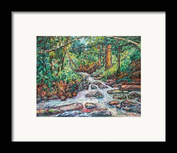 Kendall Kessler Framed Print featuring the painting Fast Water Wildwood Park by Kendall Kessler