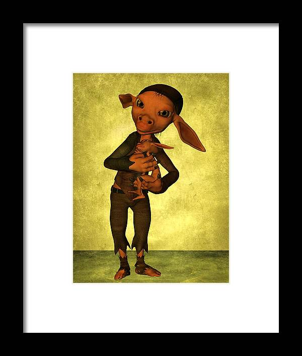 Child Framed Print featuring the digital art Father And Son by Gabiw Art