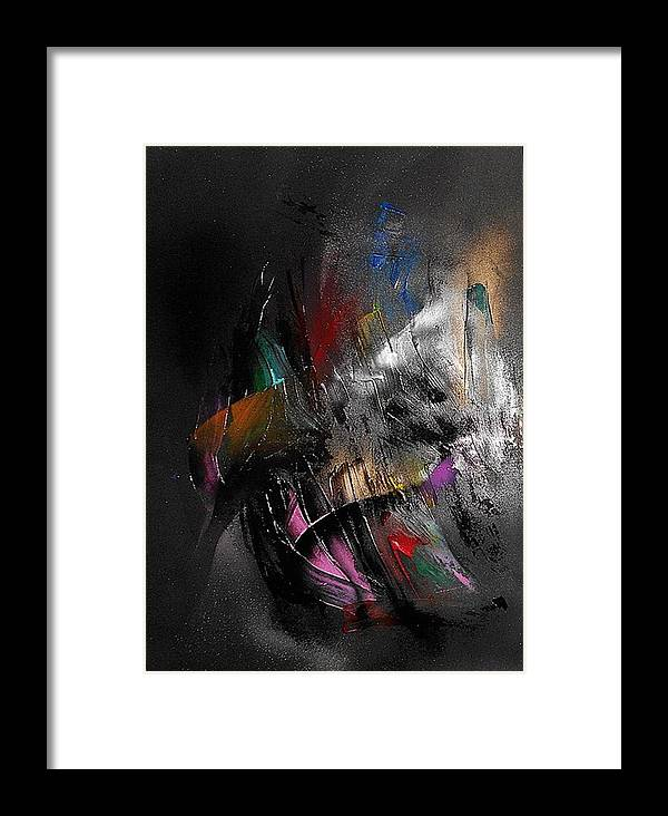 Non-figurative Framed Print featuring the painting Fd14 by Ulrich De Balbian