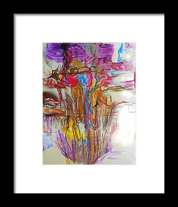 Non-figurative Framed Print featuring the painting Fd22 by Ulrich De Balbian