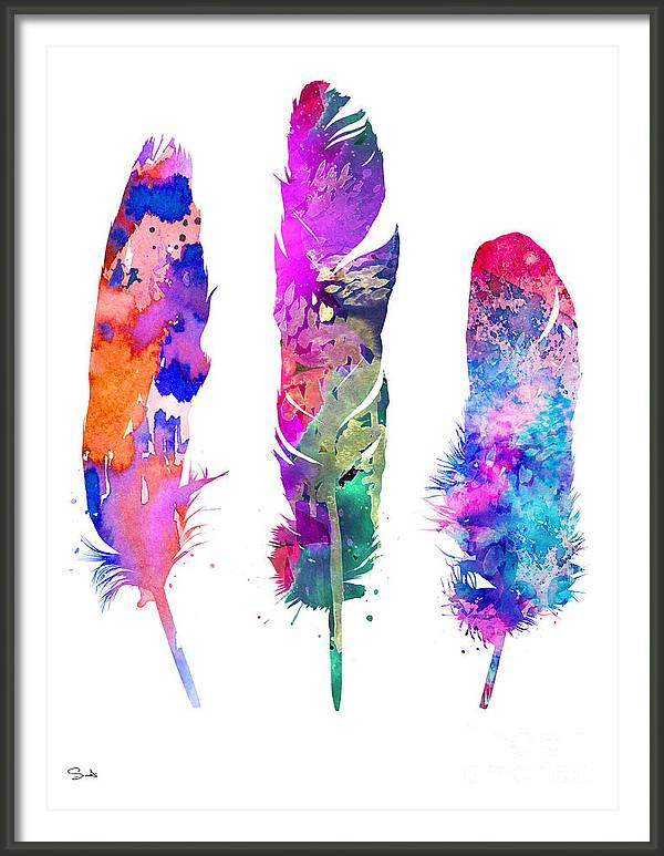 Feathers 3 by Watercolor Girl