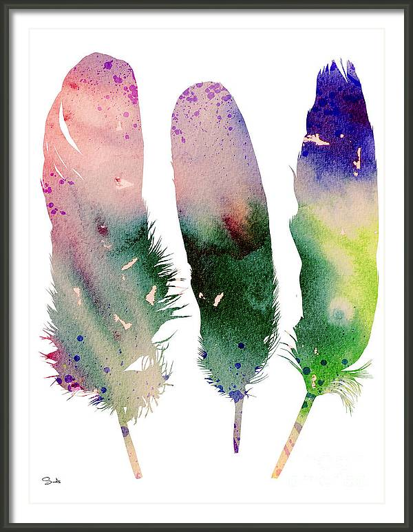 Feathers 4 by Watercolor Girl