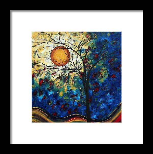 Decorative Framed Print featuring the painting Feel The Sensation By Madart by Megan Duncanson