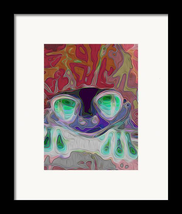 Willie Nelson Framed Print featuring the digital art Feeling Froggy V2 by Jimi Bush