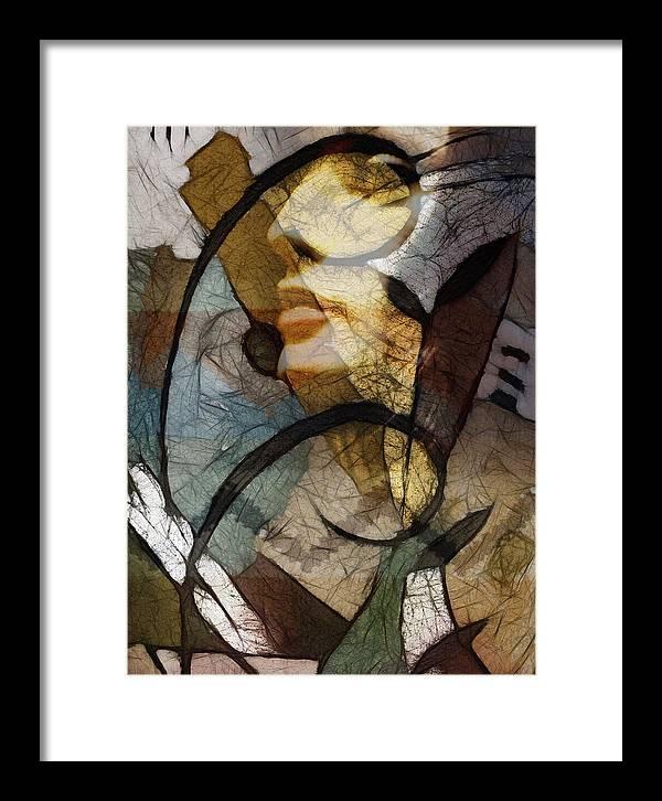 Feelings Framed Print featuring the digital art Feelings by Ann Croon