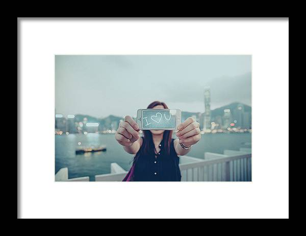 People Framed Print featuring the photograph Female Is Saying I Love You With Her by D3sign