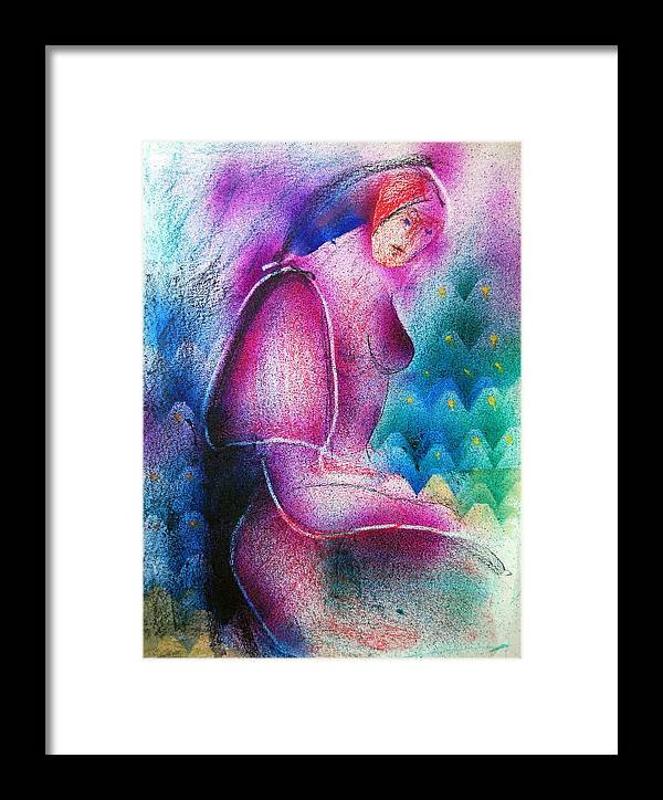 Abstract Framed Print featuring the drawing Female Predominance by Daniel Dinev