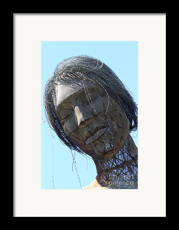 San Francisco Framed Print featuring the photograph Female Sculpture On San Francisco Treasure Island 7d25445 by Wingsdomain Art and Photography