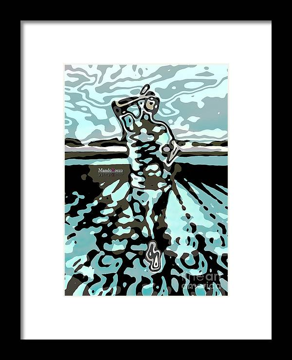 Fineart Framed Print featuring the mixed media Femme by Mando Xocco