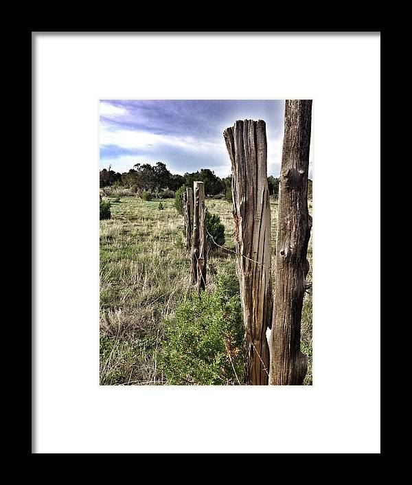 Fence Framed Print featuring the photograph Fences Not Borders by Jennifer Whittemore