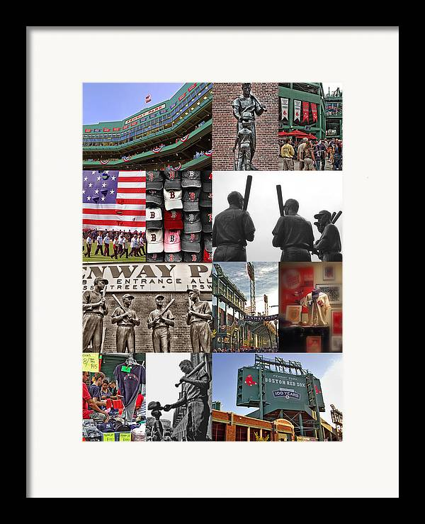 Boston Red Sox Framed Print featuring the photograph Fenway Memories by Joann Vitali