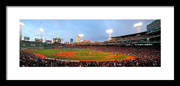 Baseball Framed Print featuring the photograph Fenway by Stephen Bellingham