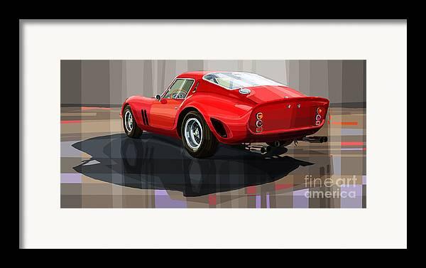 Automotive.digital Framed Print featuring the digital art Ferrari 250 Gto by Yuriy Shevchuk