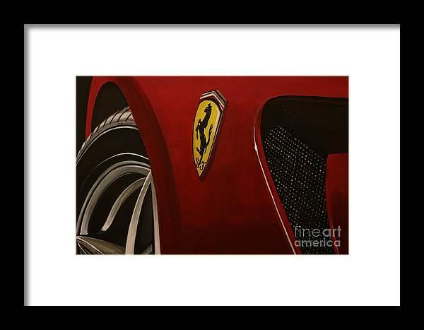Ferrari Framed Print featuring the painting Ferrari 599 Gtb Fiorano by Richard John Holden RA