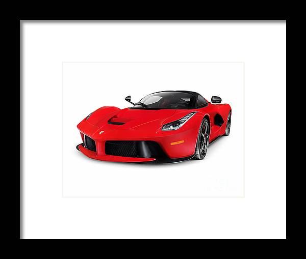 Ferrari F150 Laferrari Supercar Sports Car Framed Print By Oleksiy